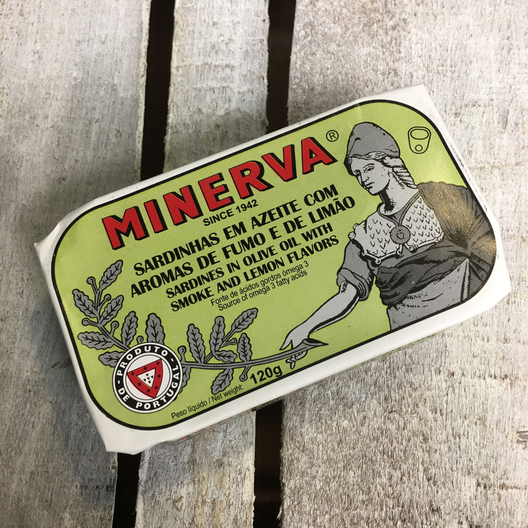 Minerva sardines in smoked olive oil and lemon