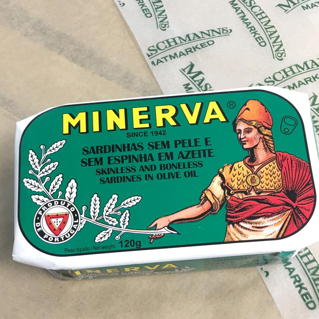 Minerva sardine skin and boneless in olive oil