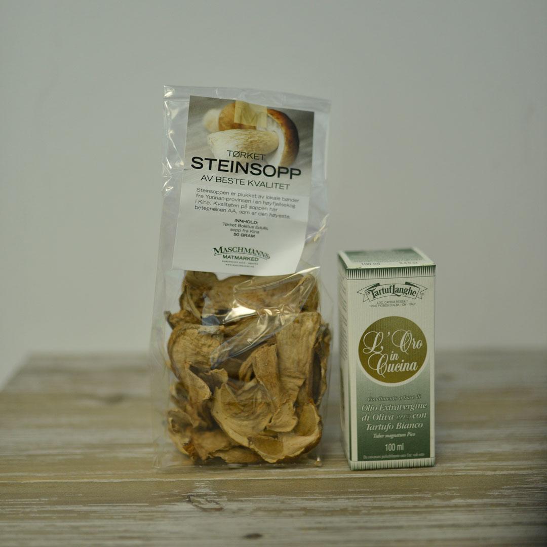 Steinsopp og trøffelolje