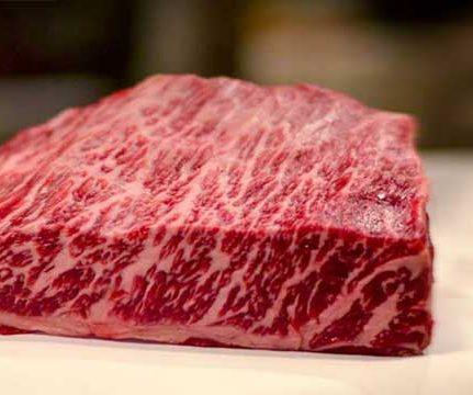 Marmorert wagyu-kjøtt