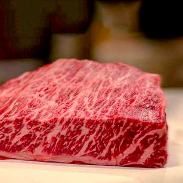 Marmorert wagyu-kjøtt fra Japan
