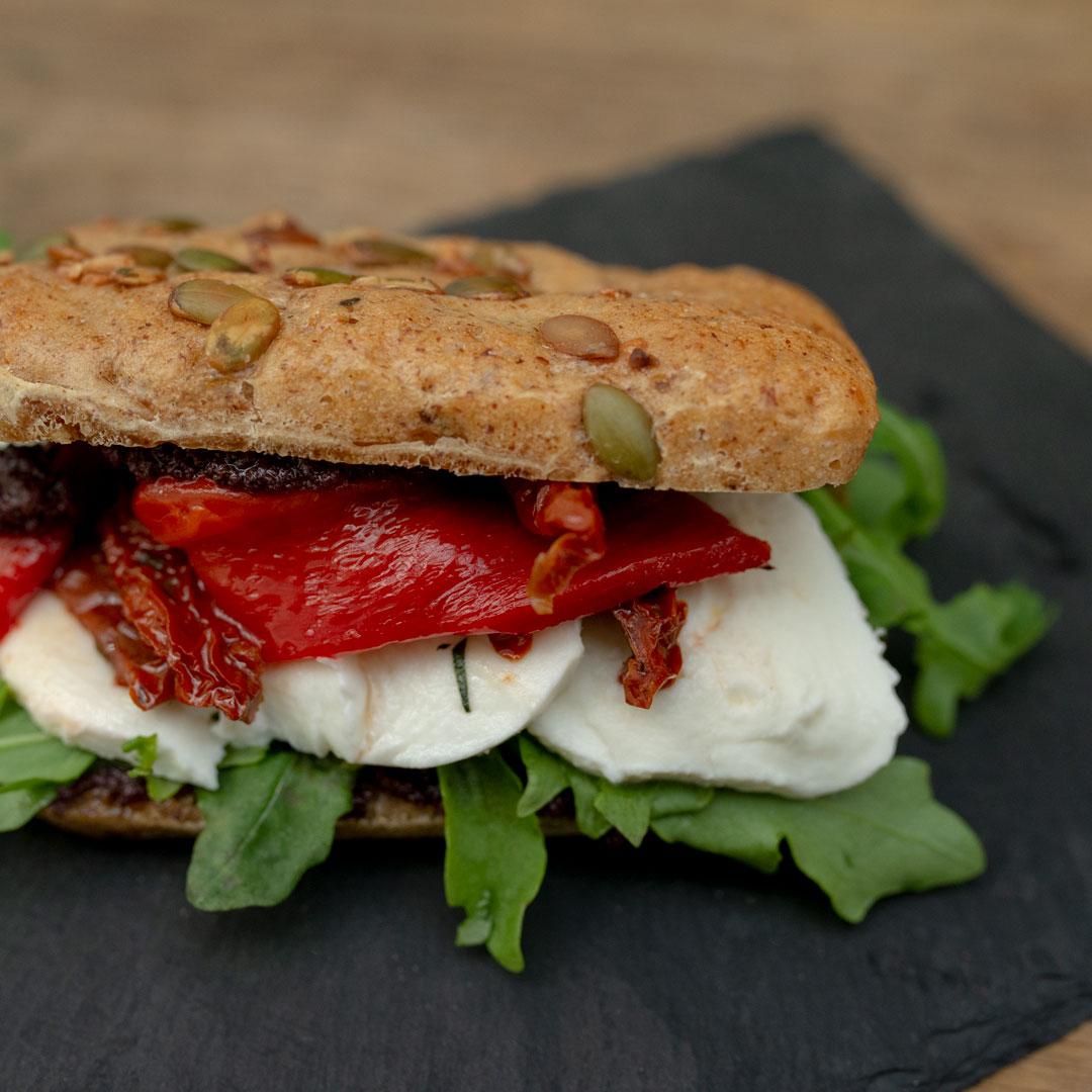 Glutenfri sandwich fra Maschmanns Bakeri
