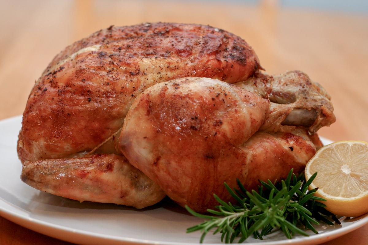 Ovnsbakt kylling med hvitløk og rosmarin