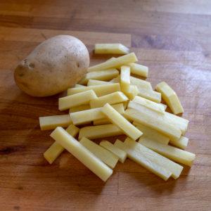 Pommes frites- Bakepotet
