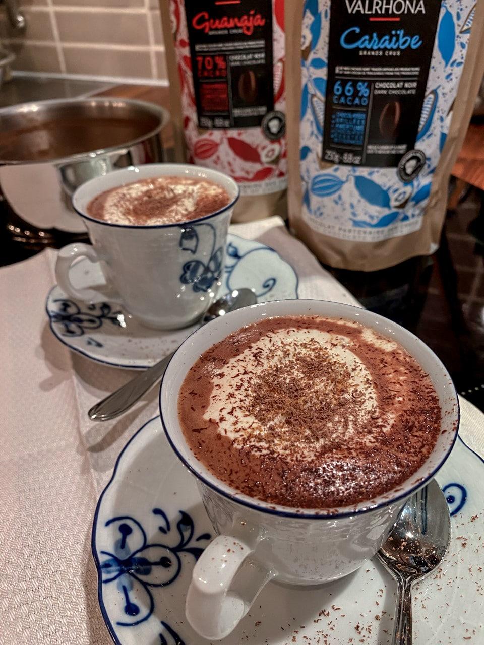 varm sjokolade med Valrhona