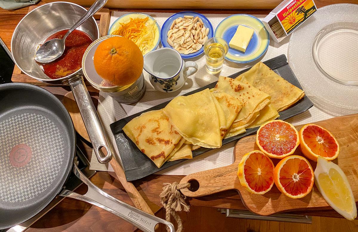 Crêpe Suzette ingredienser