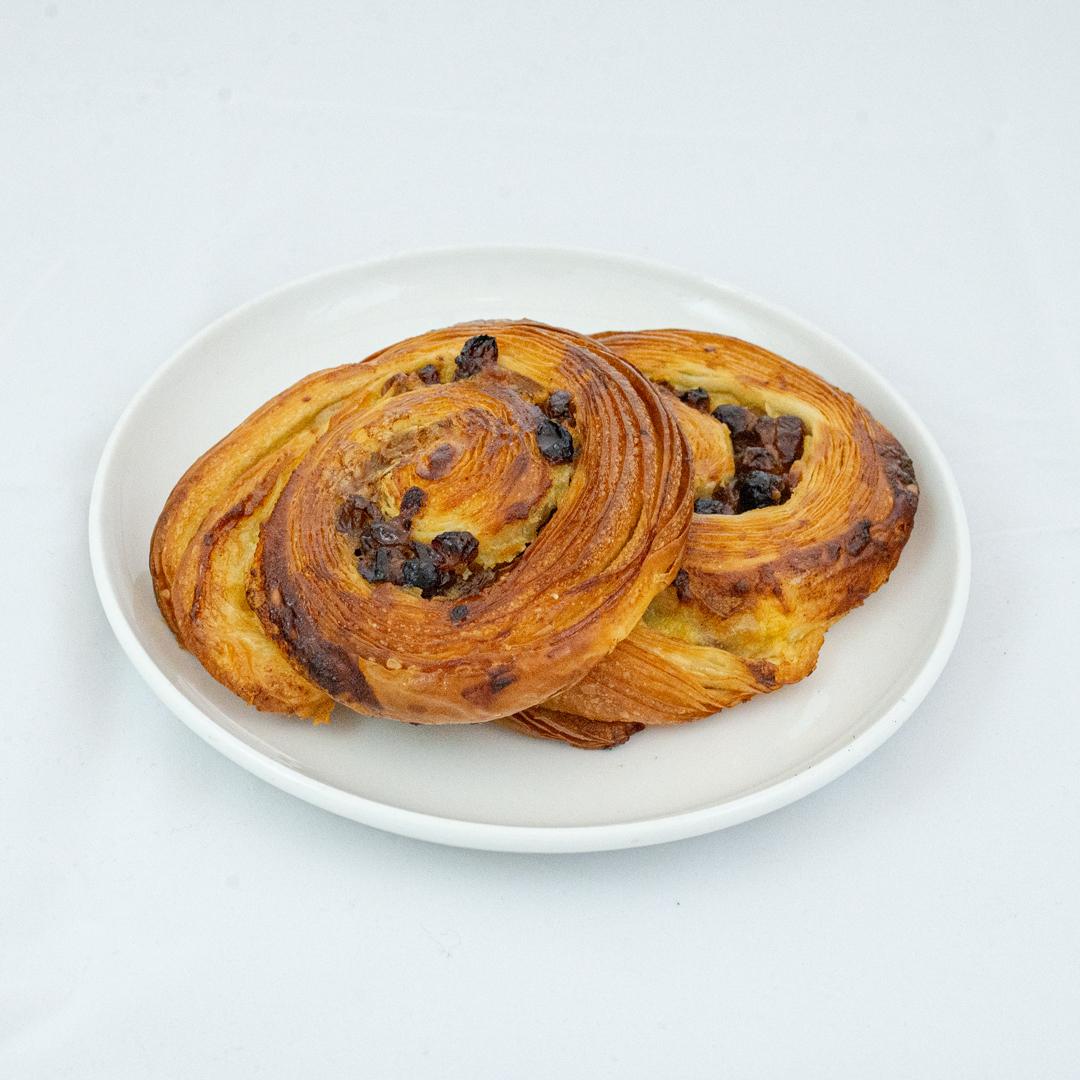 Pain au raisins fra Maschmanns Bakeri