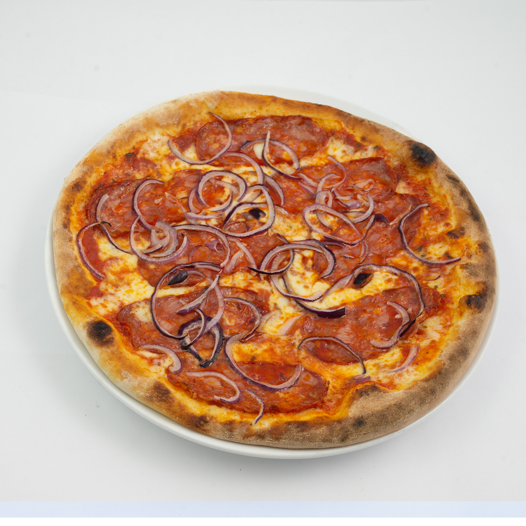 Pizza Calabria fra Maschmanns Bakeri