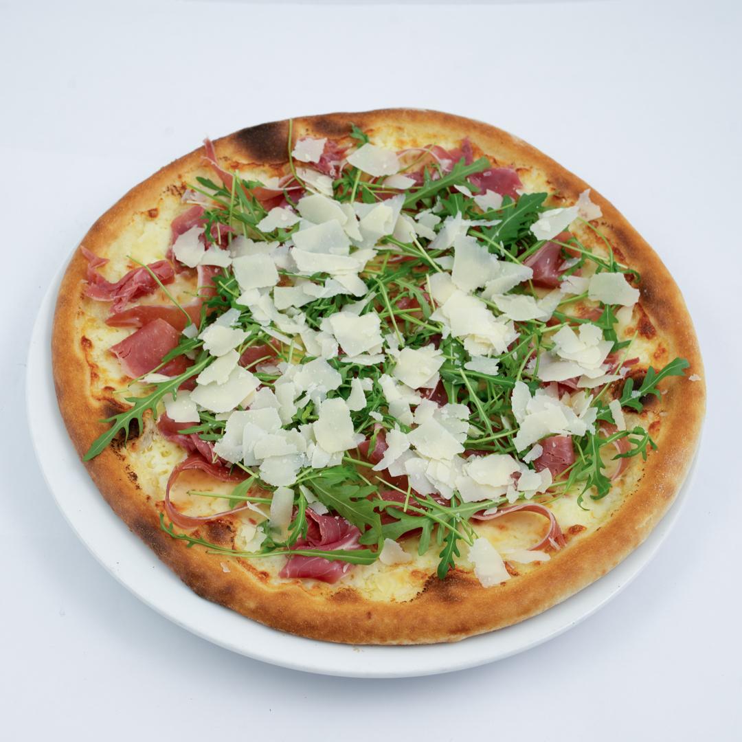 Pizza Parma Bianco fra Maschmanns Bakeri