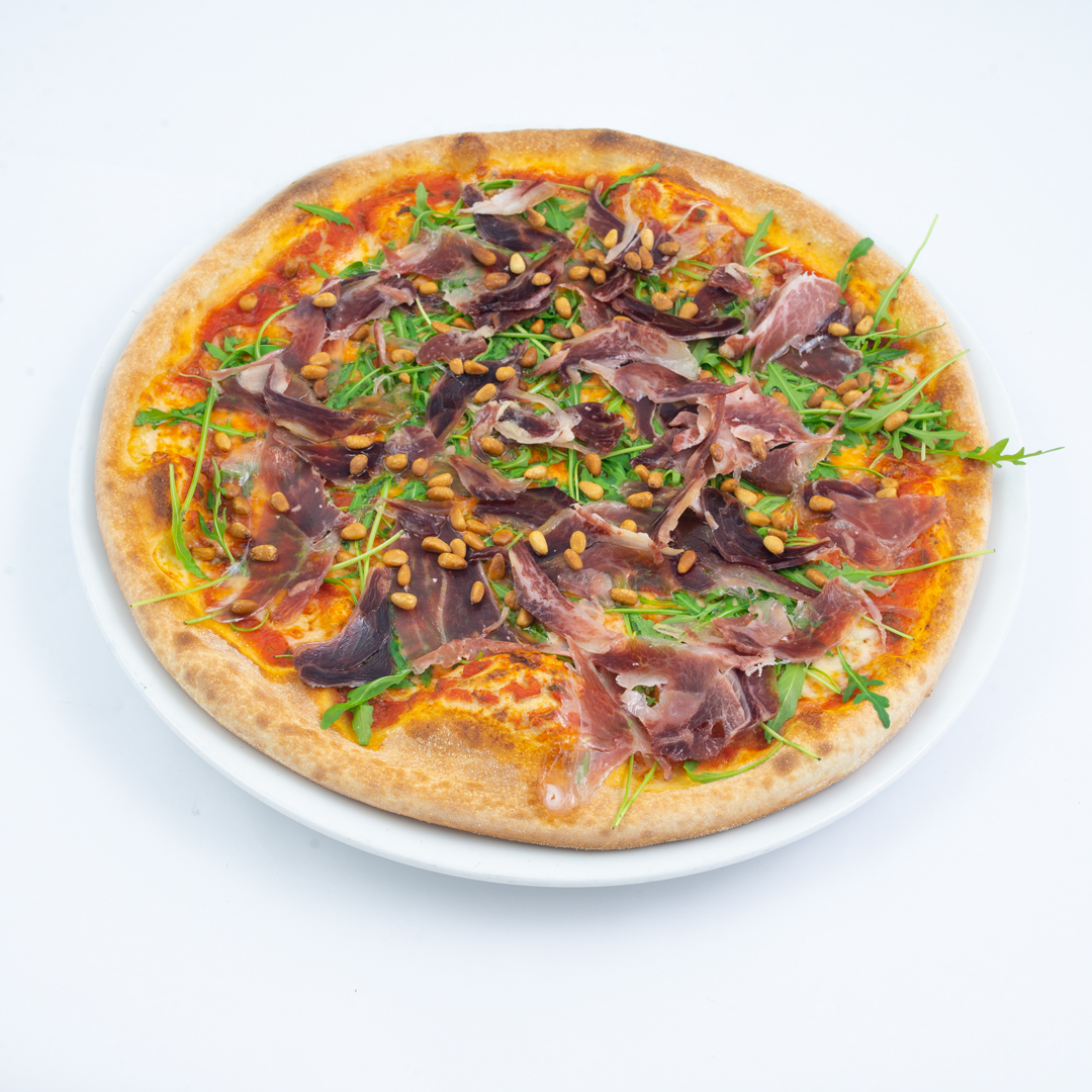 Pizza Pata Negra fra Maschmanns Bakeri