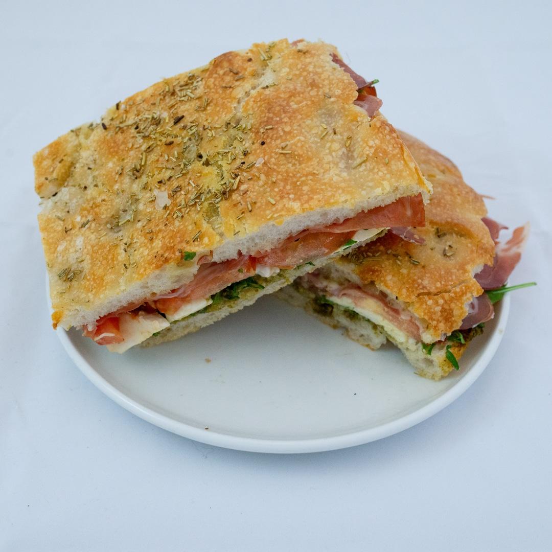 Focaccia Parma Sandwich fra Maschmanns