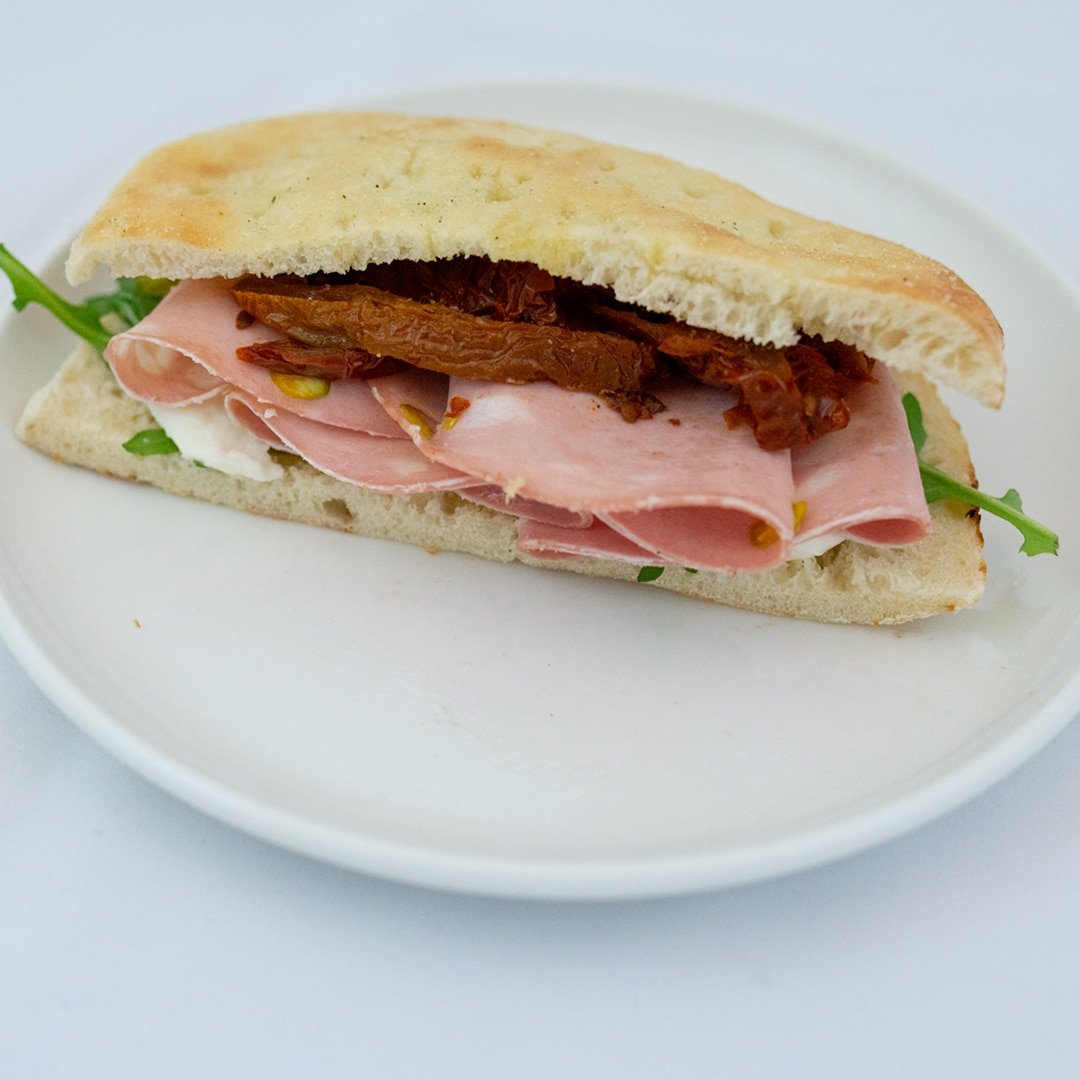 Mortadella sandwich fra Maschmanns